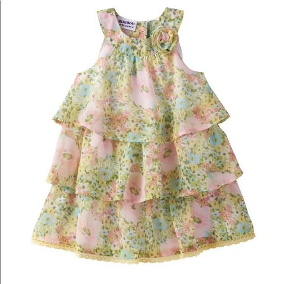 39cd4b077c Blueberi Boulevard Floral Tiered chiffon Dress